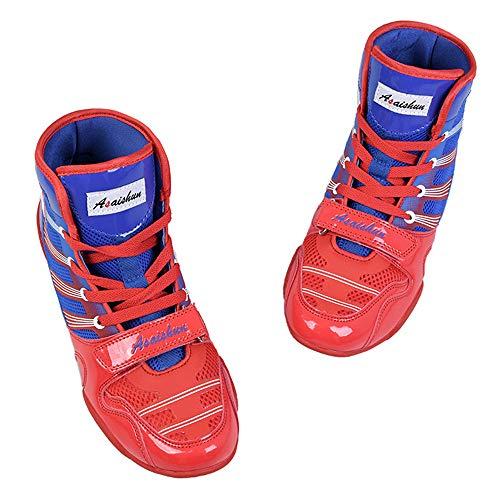 Willsky Botas De Boxeo, Zapatos De Entrenamiento De Lucha Combate Unisex Adultos Profesión Juvenil De Artes Marciales Calzado Ligero Y Transpirable,LOWTOP,42