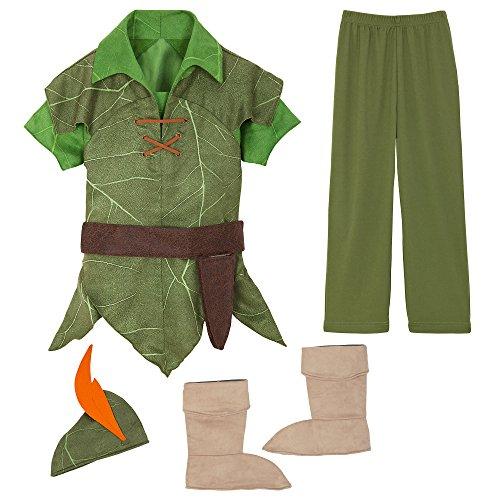 Disney Disfraz de Peter Pan para nios, talla 5/6, color verde