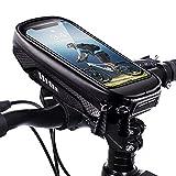 WACCET Bolsa Manillar Bicicleta, Bolsa Movil Bicicleta Montaña Impermeable con Pantalla Táctil Cubierta a Prueba de Lluviapara para Smartphones de hasta 7,0 Pulgadas
