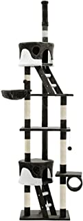 Cat Scratching Tree Post Sisal Pole Condo House Furniture Multi level Grey 260cm