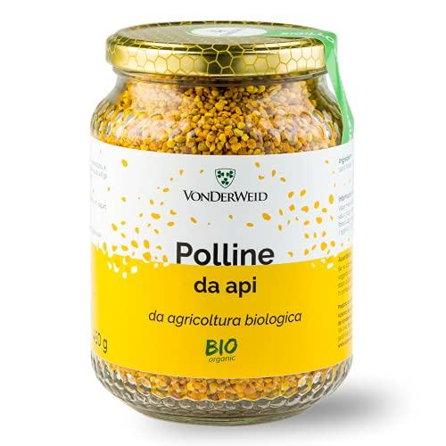 Vonderweid - Polline d'Api | Polline Biologico Italiano | Alimento Completo ricco di Proteine, Vitamine, Minerali e Aminoacidi Essenziali per le Difese Immunitarie | Integratore Vegetale | 450 gr