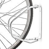 Relaxdays Posto per Parcheggiare La Bicicletta a Parete, Metallico, Inclinabile, 32.5 X 28...