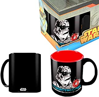 SD toys Taza Stormtrooper, Cerámica, Negro, 10x12x13 cm