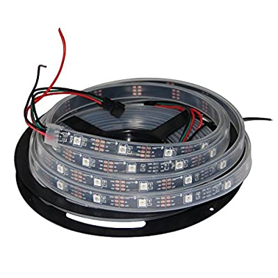 HKBAYI 16.4ft 5M Flex 150pixels Individually Addressable WS2812B 5050 SMD Built in WS2811 IC Dream Color LED Strip Light silicone sleeve Waterproof Ip67