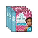 The Honest Company Baby Diapers with True Absorb Technology, Holiday Trimmings, Size 4, 92 Count