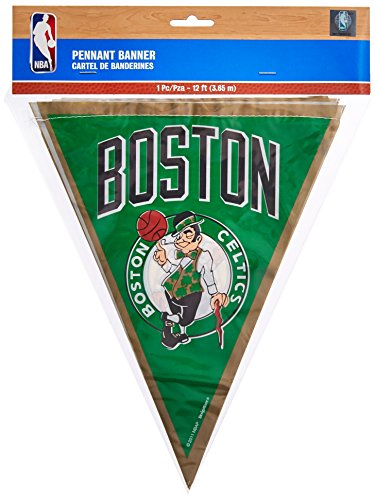 amscan Boston Celtics NBA Collection Pennant Banner, Party Decoration, 6 Ct.