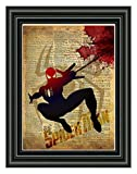 Spider Man art, splatter art, superhero decor,cool...