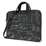 Bolsa de Hombro para computadora portátil Funda para computadora portátil, Funda de computadora con diseño de fórmula matemática, Bolsa Protectora de maletín de Negocios