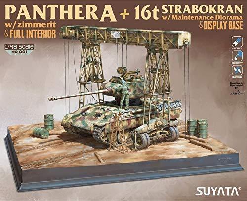 スヤタ 1/48 パンターA型 w/ツィンメリットコーティング&16t ガントリークレーン ディオラマ&ディスプレ...