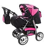 Lux4Kids King - Juego de cochecito de bebé (saco de dormir, asiento de coche,...