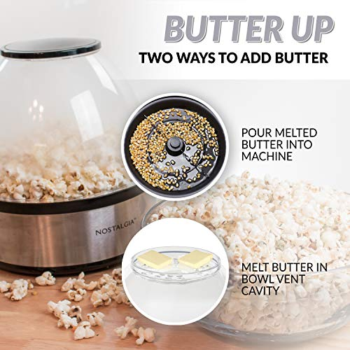 Product Image 9: Nostalgia Stainless Steel 6-Quart Stirring Speed Popper with Quick-Heat Technology 24 Popcorn, with Kernel Measuring Cup, Makes Roasted Nuts, Perfect for Birthday Parties, Movie Nights