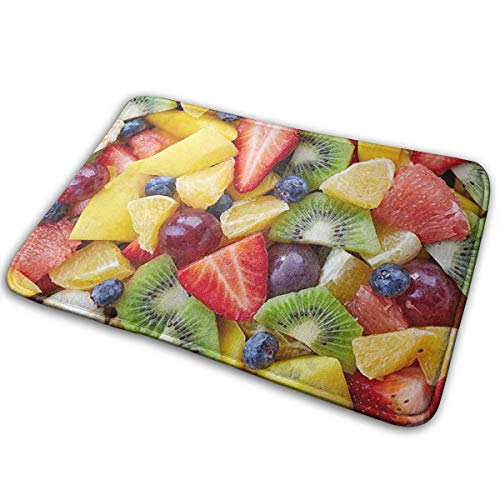 Anti Slip Bath Mat Rug (15.7 X 23.5 Inch) Extra Soft And Absorbent Rugs, Shower Room Bedroom And Kitchen Carpet,Fruit Salad Diet Healthy