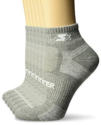 Starter Women's 6-Pack Quarter-Length Athletic Socks, Amazon Exclusive, Vapor Grey Heather, Medium (Shoe Size 5-9.5)