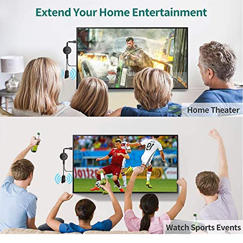 Haihui Adaptador de pantalla 4K HDMI 4K HDR, MPIO WiFi HDMI Dongle receptor para iPhone/iPad/Android/iOS/ventana/Mac portátil, tableta/PC a HDTV/monitor/proyector