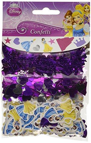 Disney Amscan International Lot de 3 Pièces Princesse Valeur confettis de fête