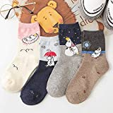 Herbst Und Winter Neue Frauen Mumin Moomin Socken Nilpferd Cartoon Tier Lustige Mid-Tube Schuhe 4 Paare