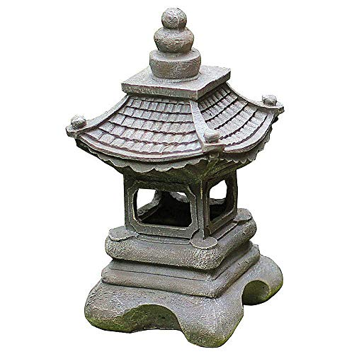 Japanese Style Solar Zen Garden Lights Lantern Pagoda Light Solar Garden Lamp Statue