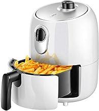 Fryer2L aire, 1000W eléctrico de aire caliente Horno freidoras Oilless Cocina, Precalentamiento y antiadherente Cesta for la rápida saludable comida frita (Color: Blanco) (Color : White)