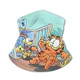 DJNGN Antifaz para dormir 100% seda Garfield Bandana Face Mask Variety Face Towel Multifunction Ice Silk Bib Scarf Teenagers Sun Uv Dust Windproof Seamless Balaclavas Kids Face Mask Sports Mask Blac