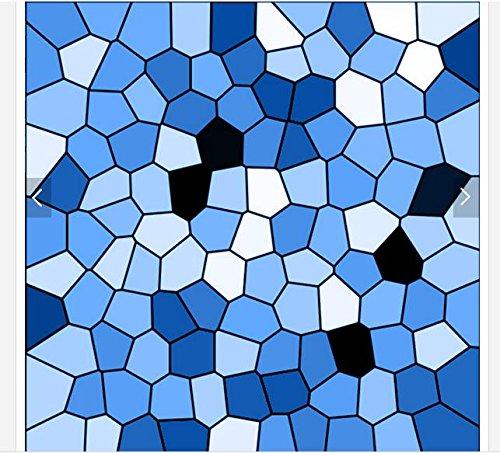 Mznm Custom 3D Photo Wallpaper 3D Bodenbeläge Malen Wallpaper Steinboden Mediterrane Geometrische Parkett 3D Wohnzimmer Wallpaer 400 X 280 Cm