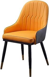 KOOU Sillas de Comedor de Cocina, sillas de Mesa de Comedor para el hogar con pies de Acero al Carbono, Cuero de PU, para sillas de salón de recepción de Dormitorio