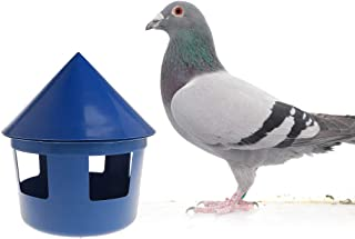 Abicial Pigeon Feeder House Design Cover Feeding Food Dispenser Sand Case Multi Functional Pet Birds Parrot Container Supplies Plastic Dustptoof