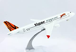 TIGER AIR DIECAST Metal Plane Aircraft Models ON Stand 14cm AEROCRAFT