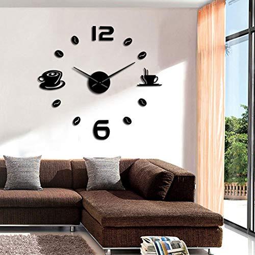 Wandklok enorme wandklok om zelf te maken Cafe House sticker om zelf te maken grote wijzers klok zonder lijst grote klok