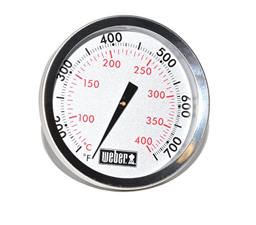 """Weber Replacement Thermometer 67088, Center Mount, 2-3/8"""" Diameter"""