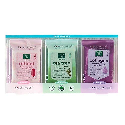 Earth Therapeutics 3-pk. Limpieza y maquillaje removiendo toallas faciales