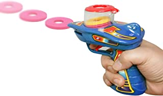 WEY&FLY Zip Shot Shooter Kids Disc Shooter Blaster with a 6-Dart Capacity, Gun Toy, Dazzling Toys