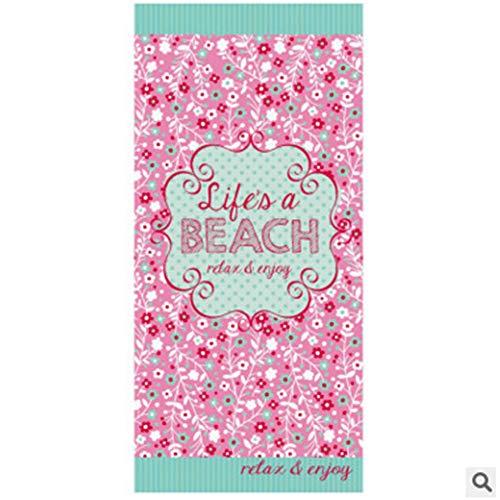Grote strandhanddoek, 100% zacht katoen, 150 x 70 cm, absorberende badhanddoeken voor volwassenen