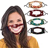 SHUANGA Christmas Print Resue Breathable Multi-Purpose Face Cover Reuse Mask FacemaskAtmungsaktiv...