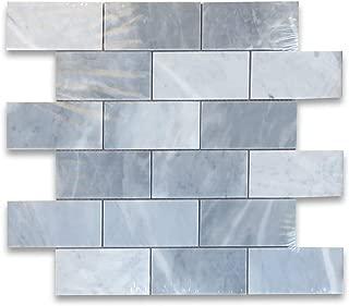Bardiglio Gray Dark Grey Marble Subway Brick Mosaic Tile 2 x 4 Honed