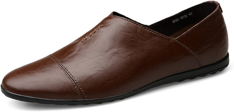 Dig dog bone Men's Moccasins PU Leather Flat Heel Slip on Driving Style Loafer