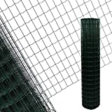 ESTEXO Schweißgitter Gartenzaun verzinkt mit PVC-Beschichtung grün, Maschenweite 7,5 x 5 cm 1,5x25m