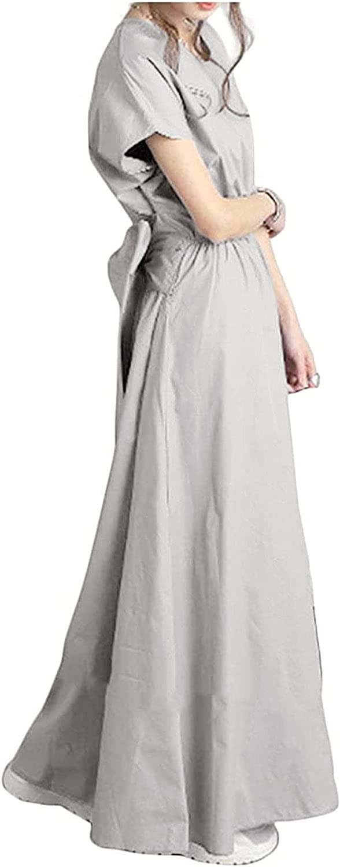 2021 Summer New Back Bow Sashes Short Solid Simple V Neck A-Line Dresses for Women Elegant Retro Temperament Dress