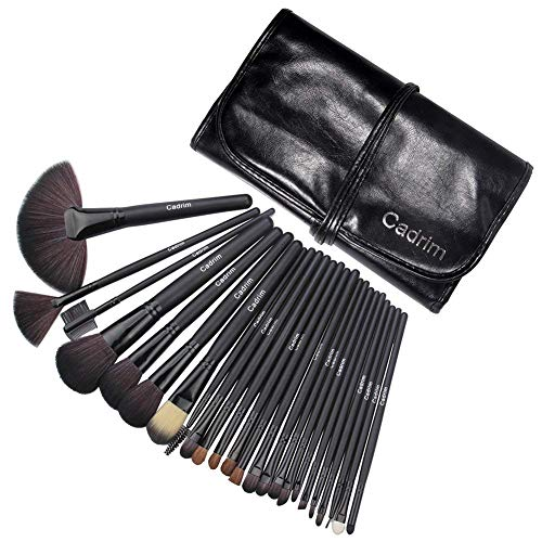 Brochas de Maquillaje,Cadrim 24pcs Maquillaje Profesional Pinceles Maquillaje de Ojos Rubor Contorno...
