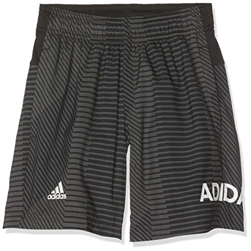 adidas Jungen Graphic Shorts, Grey/Black, 110