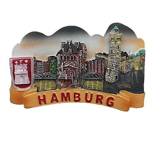 Hamburg Deutschland Kühlschrankmagnet Reise Souvenir Geschenk Home Küche Dekoration Magnet Sticker Hamburg Kühlschrankmagnet Sammlung