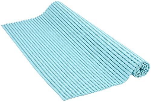 Venilia Weichschaummatte Venisoft Uni rutschfester Bodenbelag Duschmatte Anti-Rutschmatte, PVC-Polyester, Blau, 54157, 65 x 200 cm