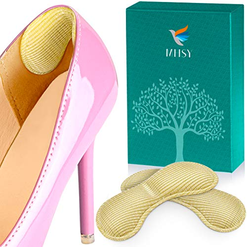 MHSY Heel Grips for Shoes Too Big, 2 Pairs Anti Heel Blister Foot Pads for Women and Men Preventing Heel Protectors from Rubbing and Slipping Out