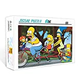 Mini rompecabezas para adultos 1000 piezas The Simpsons Puzzle game toy gift 1000 piezas rompecabezas para niños juego de desafío para adultos 70x50cm