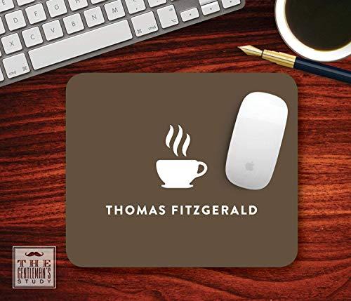 Espresso mousepad - personalisierte kaffeetasse thema mauspad - individuell bedrucktes home office dekor - personalisiertes geschenk für kaffeeliebhaber / 25x30cm
