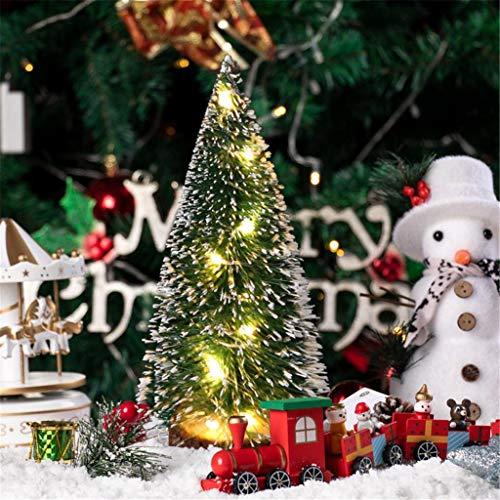 carol -1 Mini Geschmückter Künstlich Weihnachtsbaum,Bunt Beleuchten Tannenbaum Schleifen ChristbaumkugelnMini Weihnachtsbaum Weihnachtsbaum Kreative Künstliche Miniatur Urlaub Baum Tabletop Ornament