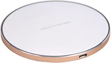 Wireless Charger Ultra-Slim Qi Wireless Charging Pad For Samsung Galaxy S8 S8 Plus S7 S7 Edge S6 S6 Edge Plus/Note 5 (Gold or Silver)