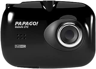 Máy thâu hình đặt trên xe ô tô – PAPAGO GS272-US GoSafe 272 Ultra Slim Full HD 1080P Dashcam – Replacement for GoSafe 330 (Black)