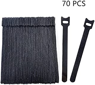 vancool 70pcs cable gestión reutilizable Fastening bridas organizador, 15,2cm) Hook & Loop cable de alambre ajustable Cable correas para debajo del escritorio, gestión de cables, Negro