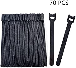 Vancool 70 PCS Cable Management Reusable Fastening Cable Ties Organizer, 6-Inch Hook & Loop Adjustable Wire Cable Straps for Cable Under Desk,Cord Management,Black