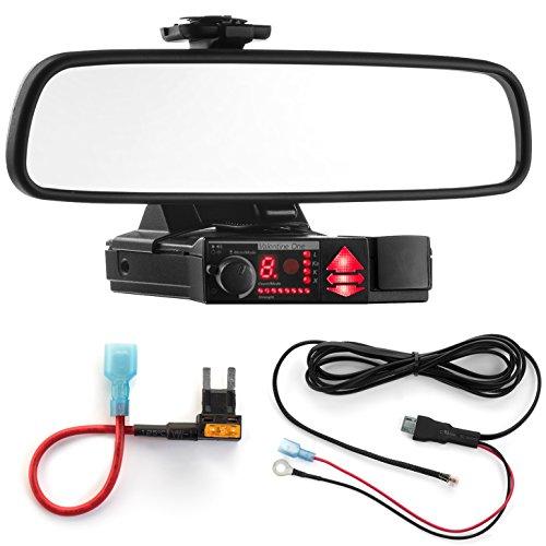 Radar Mount Mirror Mount Bracket + Direct Wire Power Cord + Mini Fuse Tap for Valentine V1 (3001404)